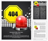 Page Not Found 404 Error Editable Word Template