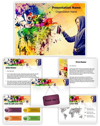 Graffiti Editable PowerPoint Template