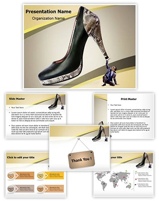 Woman Domination Editable PowerPoint Template