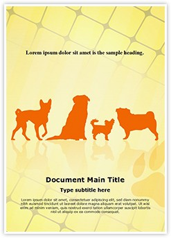 Pet Dog Breeds Editable Word Template