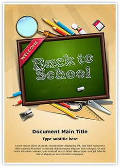 School Education Editable Word Template