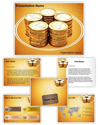 European Economy Euro Editable PowerPoint Template