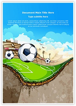 Sports Soccer Field Editable Word Template