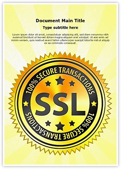 SSL Encryption Safety Editable Word Template