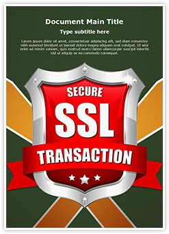 SSL Secure Transaction Editable Word Template