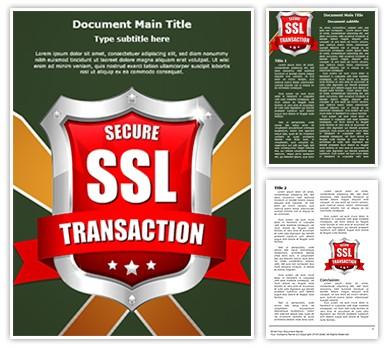 SSL Secure Transaction Editable Word Document Template