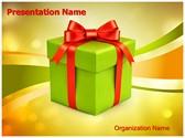 Christmas Gift Box Editable PowerPoint Template