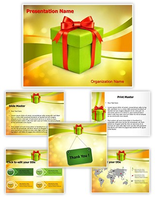 Christmas Gift Box Editable PowerPoint Template