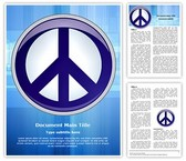 Symbol Peace And Love Editable Word Template