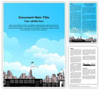 Transportation Bus Station Editable Word Document Template