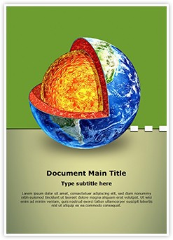 Earth Mantle Editable Word Template