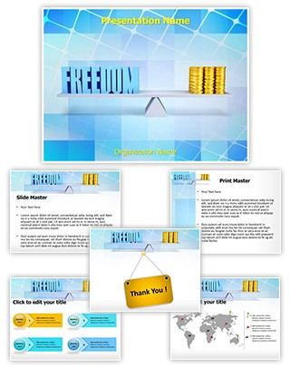 Freedom Money Balance Editable PowerPoint Template