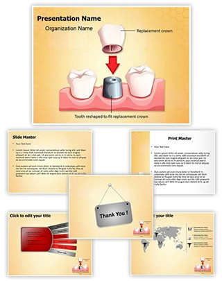 Dental Crown Procedure Editable PowerPoint Template