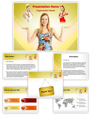 Angel and Devil Editable PowerPoint Template