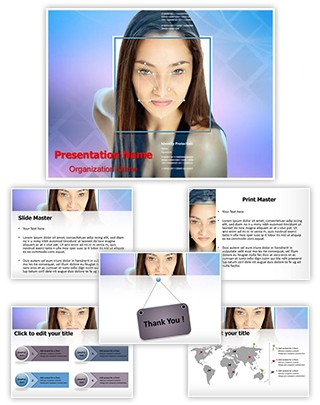 Face Recognition Editable PowerPoint Template