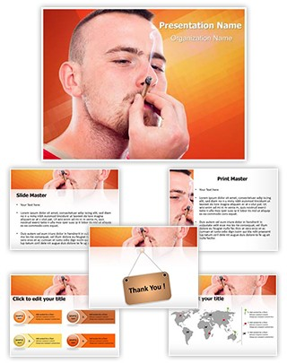 Hash Joint Smoking Editable PowerPoint Template