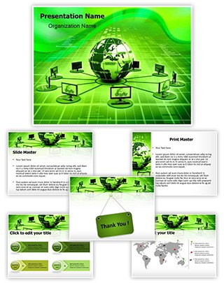 Global Computer Network Editable PowerPoint Template