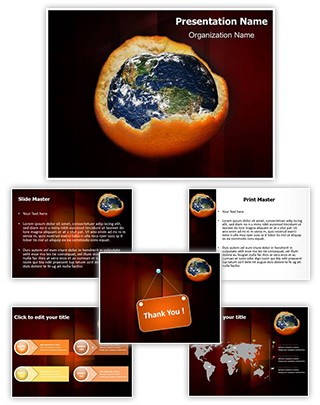 Depletion of Ozone Layer Editable PowerPoint Template