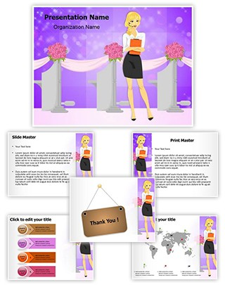 Event Wedding Planner Editable PowerPoint Template