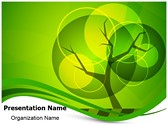 Green Tree Background PowerPoint Templates