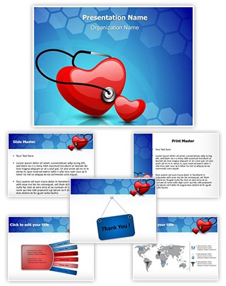 Heart Stethoscope Editable PowerPoint Template