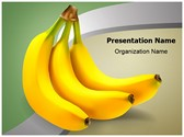 Food Ripe Bananas PowerPoint Templates