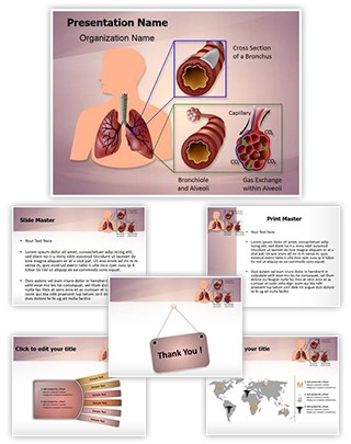 Human Lung Function Editable PowerPoint Template