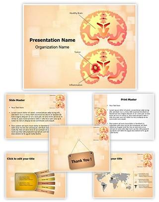 Brain Tumor Editable PowerPoint Template