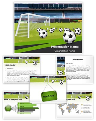 Goal Keeper Soccer Sports Editable PowerPoint Template