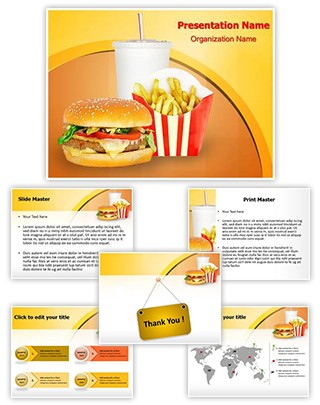 professional fast food mcdonalds editable powerpoint template. Black Bedroom Furniture Sets. Home Design Ideas