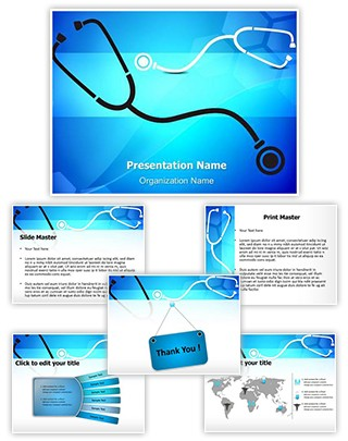 Medical Stethoscope Background Editable PowerPoint Template