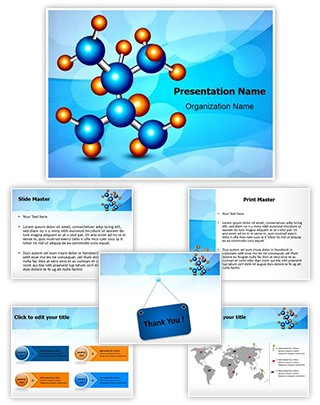Molecule Structure Editable PowerPoint Template