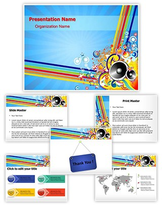 Music Party Background Editable PowerPoint Template