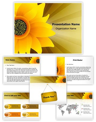 Sunflower Editable PowerPoint Template