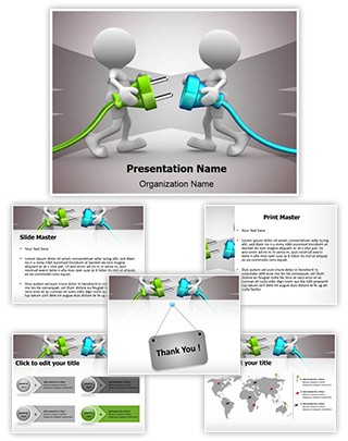 Connecting Cable Editable PowerPoint Template