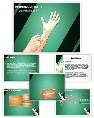 professional medical latex gloves editable powerpoint template. Black Bedroom Furniture Sets. Home Design Ideas