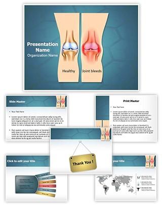 Hemophilia Joint Bleeding Editable PowerPoint Template