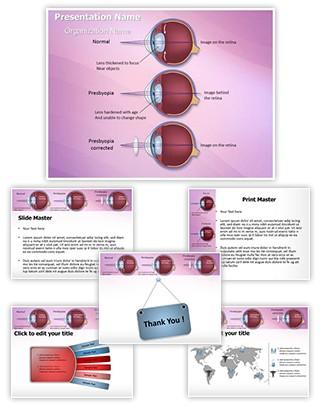Optometrist Presbyopia Editable PowerPoint Template