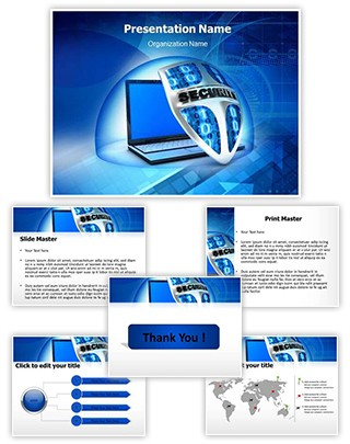 Security Shield Editable PowerPoint Template