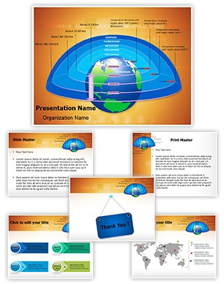 Earth Atmosphere Layers Editable PowerPoint Template
