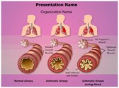 Illustration Pathology of Asthma Template