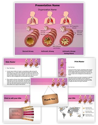Illustration Pathology of Asthma Editable PowerPoint Template