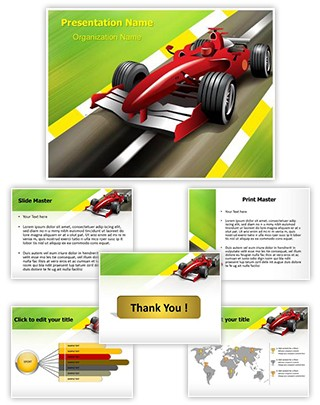 Formula 1 Grand Prix Editable PowerPoint Template