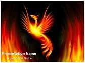 Rebirth Burning Phoenix Editable PowerPoint Template