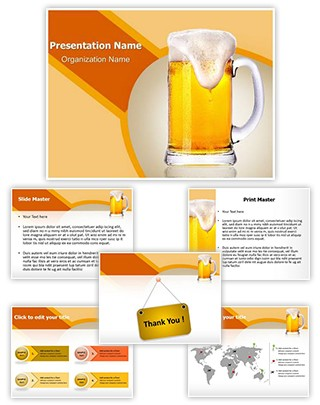 Beer Glass Editable PowerPoint Template