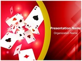 Gambling Playing Cards Editable PowerPoint Template