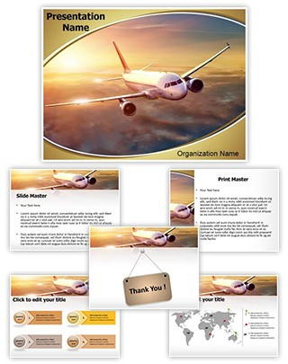 Airplane Editable PowerPoint Template