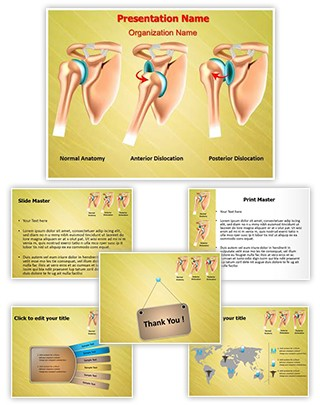 Shoulder Dislocation Editable PowerPoint Template