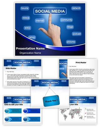 Buzz Marketing Social Sharing Editable PowerPoint Template