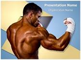 Kick Boxer Kickboxing Editable PowerPoint Template